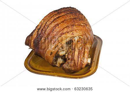 Roast Leg Of Pork With Crispy Crackling
