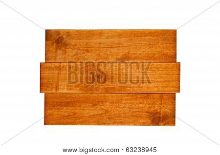 wooden sign on an isolated white background
