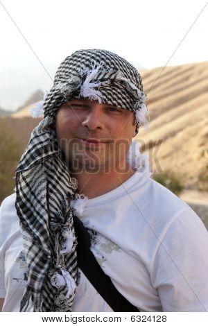 Man In Arabic Kerchief
