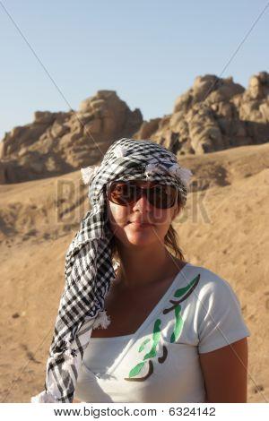 Tourist In Arabic Kerchief