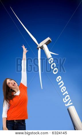 Woman With A Windmill