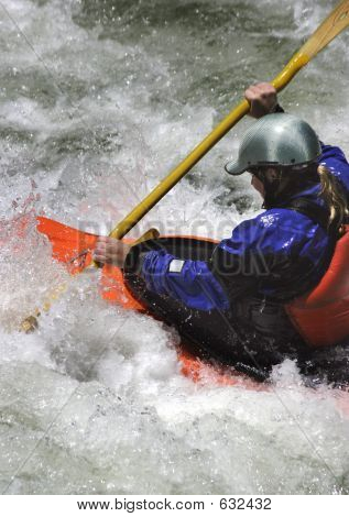 Paddling In Rapids