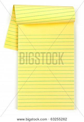 paper notebook isolated on an isolated white background