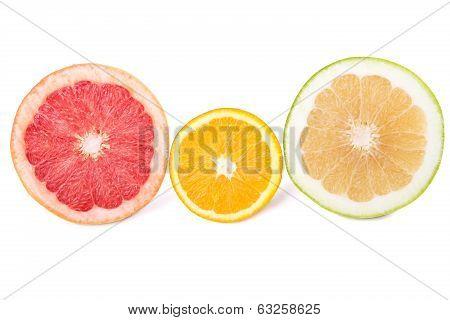 Grapefruit, Sweetie And Orange