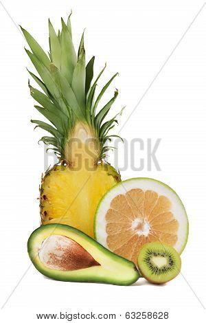 Avocado, Pineapple, Sweetie And Kiwi