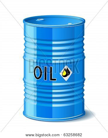 Metal Barrel With Oil.