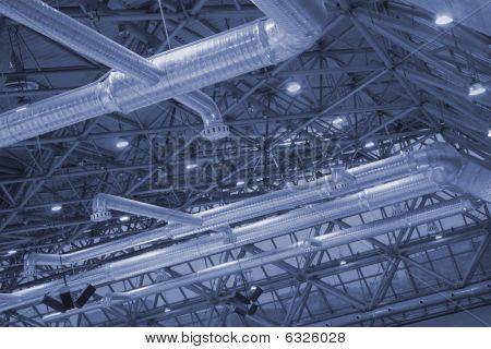 Ceiling Of Industrial Building.