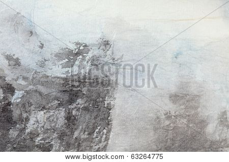 Abstract Chinese Painting Art On Grey Paper
