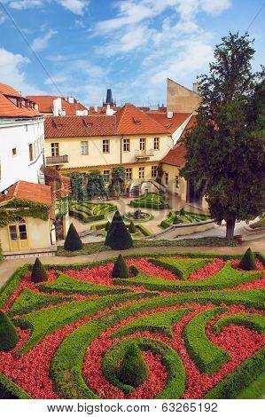 Prague view from Vrtbovska Zahrada