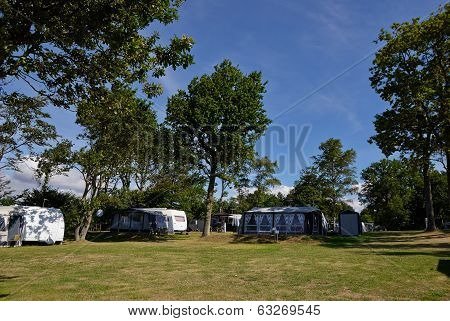 Campers In A Camping Site