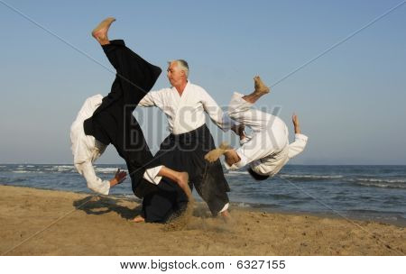 Aikido On The Beach