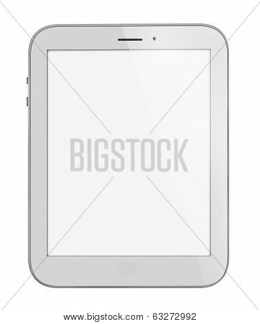 Illustration of white tablet pc similar to ipade on white background