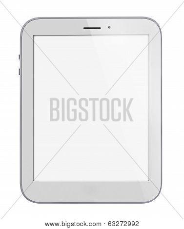 Illustration of white tablet pc similar to ipade on white background