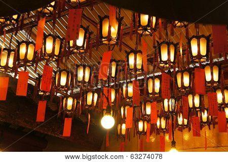 Lanterns at the Man Mo Temple