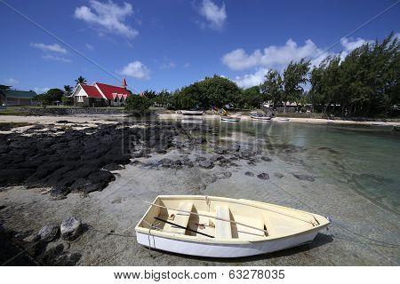 Church in Cap Malheureux, Mauritius island