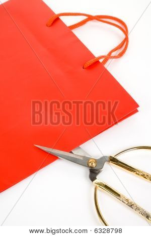 Shopping Bag And Scissor