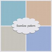 Samples Knitted Backgrounds In Various Shades Of Pale Colors.