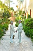Older couple at tropic