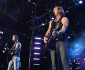 LAS VEGAS-APR 4: Brian Kelley (L) and Tyler Hubbard of Florida Georgia Line perform at the 2nd Annua