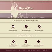 Website Template with Abstract Header Design - Colorful Striped Pattern