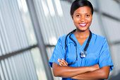 portrait of pretty african medical doctor