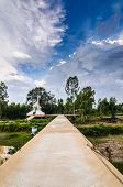 foto of crematory  - Thai crematory in the buddha temple countryside Thailand - JPG