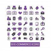 eCommerce, internet store, retail, delivery icons set, vector