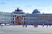 Palace Square in the Saint Petersburg, Russia