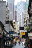 Peel street of Hong Kong