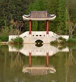 beautiful pavilion in a park, china