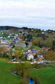 Belgium, Panoramic View Of Village.