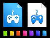 Controller Icons on Colorful Paper Document Collection