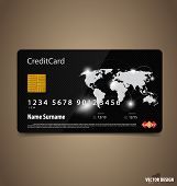 Credit Card. Vector illustration.
