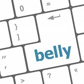 foto of belly-button  - belly button on computer pc keyboard key - JPG