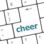 Cheer Word On Keyboard Key, Notebook Computer Button