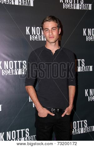 LOS ANGELES - OCT 3:  Cameron Fuller at the Knott's Scary Farm Celebrity VIP Opening  at Knott's Berry Farm on October 3, 2014 in Buena Park, CA