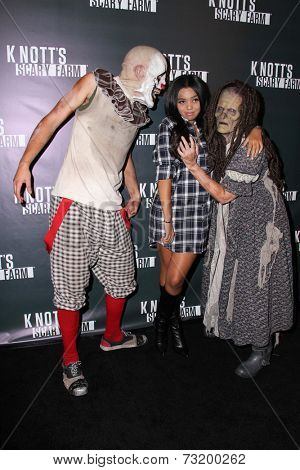 LOS ANGELES - OCT 3:  Daphne Blunt at the Knott's Scary Farm Celebrity VIP Opening  at Knott's Berry Farm on October 3, 2014 in Buena Park, CA