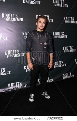 LOS ANGELES - OCT 3:  Dylan Sprayberry at the Knott's Scary Farm Celebrity VIP Opening  at Knott's Berry Farm on October 3, 2014 in Buena Park, CA