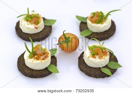 Cheese Appetizers On Rye Bread