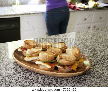 Egg Sandwiches On Display