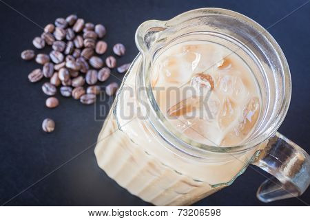 Iced Coffee Latte And Roast Bean