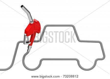 car and fuel nozzle