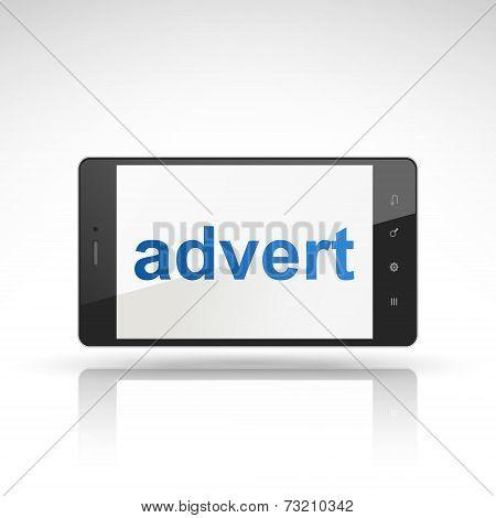 Advert Word On Mobile Phone