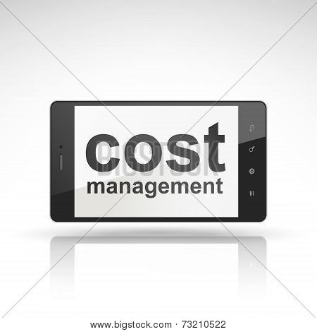Cost Management Words On Mobile Phone