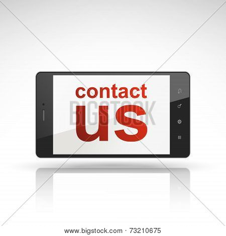 Contact Us Words On Mobile Phone