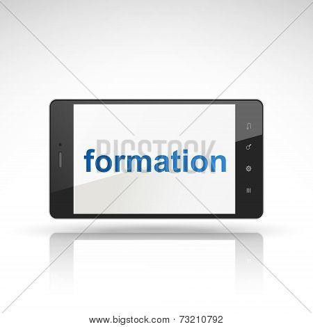 Formation Word On Mobile Phone
