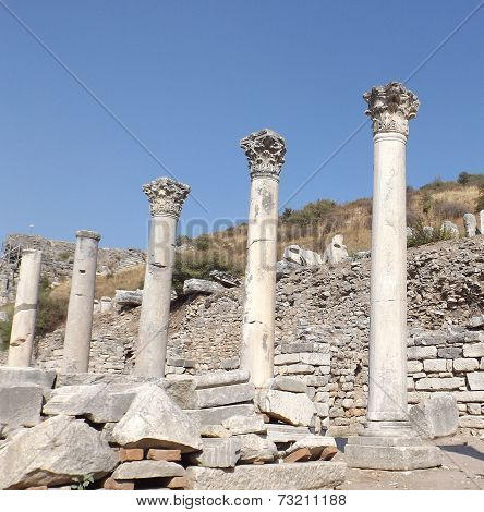 Ruins of the ancient city Ephesus in Turkey