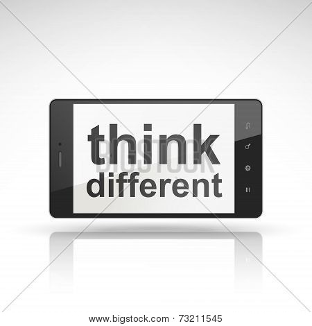 Think Different Words On Mobile Phone