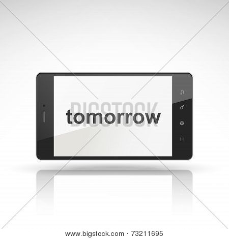 Tomorrow Word On Mobile Phone