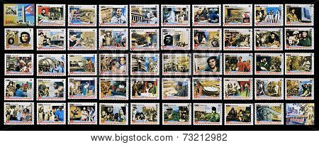 50 stamps printed in cuba dedicated to 50 anniversary of the triumph of the revolution